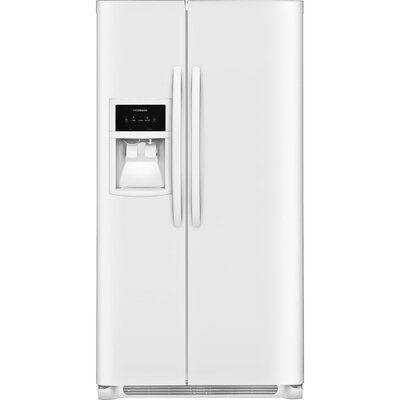 26 cu. ft. Side-By-Side Refrigerator Finish: White