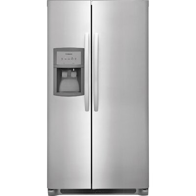 26 cu. ft. Side-By-Side Refrigerator Finish: Stainless Steel