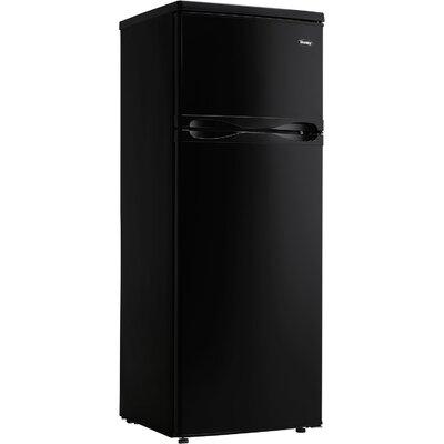 Designer 7.3 cu. ft. Top Freezer Refrigerator with Top-Mount Freezer