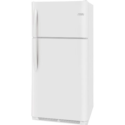 18.1 cu. ft. Top Freezer Refrigerator with LED Lighting Finish: White