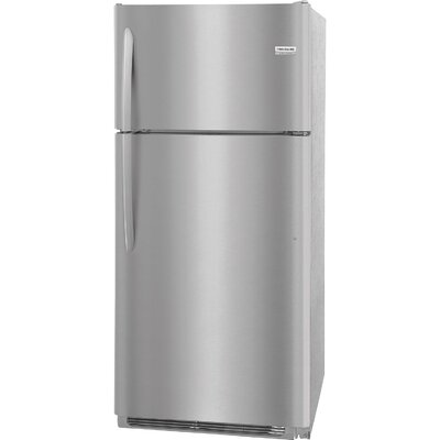 18.1 cu. ft. Top Freezer Refrigerator with LED Lighting Finish: Stainless Steel