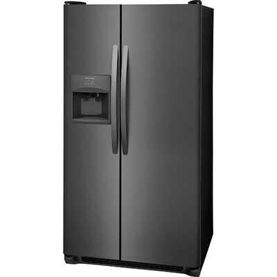 22.1 Cu ft. Side-by-Side Refrigerator with LED Lighting Finish: Black Stainless Steel