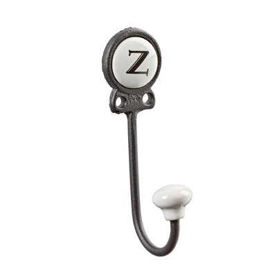 Zircon Classy Lettered Coat for Personalized Storage Wall Hook Letter: Z
