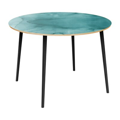 Canizales Dining Table Table Top Color: Natural, Table Base Color: Black