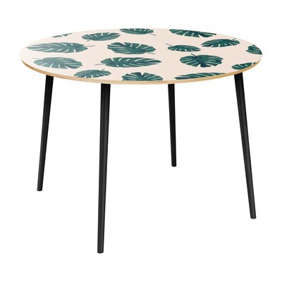 Cleitus Dining Table Table Top Color: Natural, Table Base Color: Black