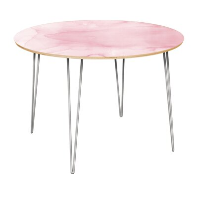 Cannady Dining Table Table Top Color: Natural, Table Base Color: Chrome
