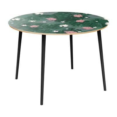 Cleland Heights Dining Table Table Top Color: Natural, Table Base Color: Black