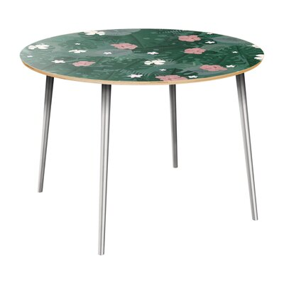 Cleland Heights Dining Table Table Top Color: Natural, Table Base Color: Chrome