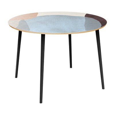 Cannella Dining Table Table Top Color: Natural, Table Base Color: Black