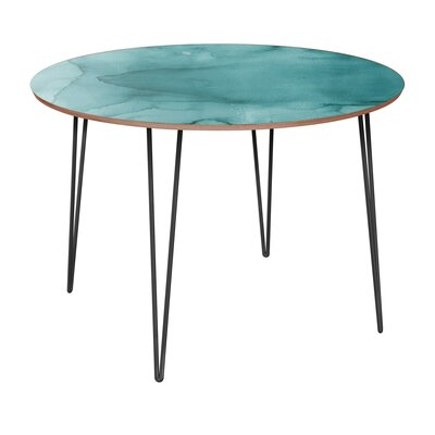 Canis Dining Table Table Base Color: Black, Table Top Color: Walnut