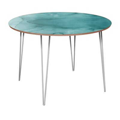 Canis Dining Table Table Base Color: Chrome, Table Top Color: Walnut