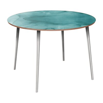 Canizales Dining Table Table Base Color: Chrome, Table Top Color: Walnut