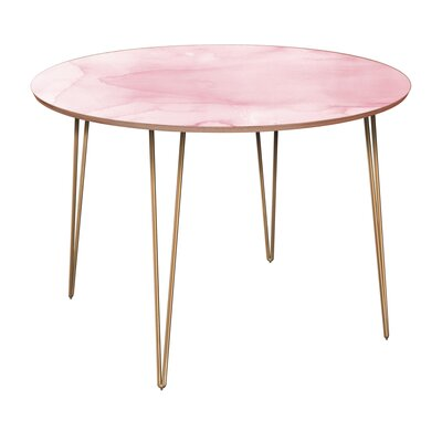 Cannady Dining Table Table Base Color: Brass, Table Top Color: Walnut