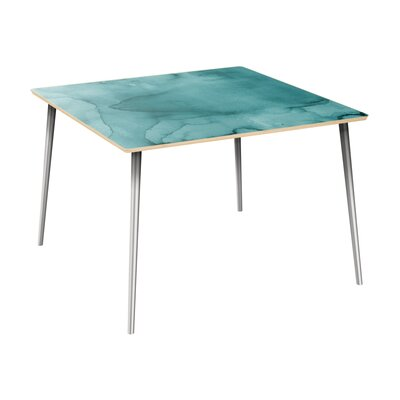 Cantara Dining Table Table Top Color: Natural, Table Base Color: Chrome