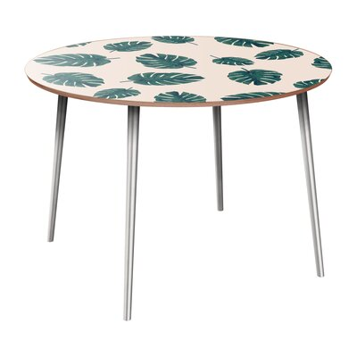 Cleitus Dining Table Table Base Color: Chrome, Table Top Color: Walnut