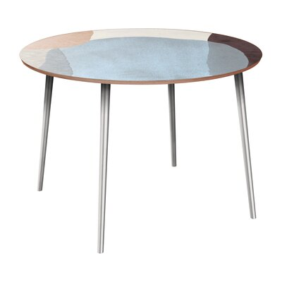 Cannella Dining Table Table Base Color: Chrome, Table Top Color: Walnut