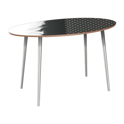 Penson Dining Table Table Base Color: Chrome, Table Top Color: Walnut