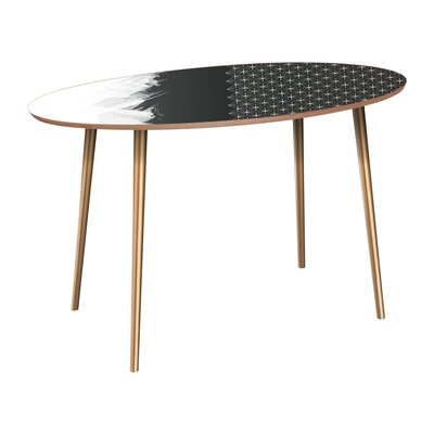 Penson Dining Table Table Base Color: Brass, Table Top Color: Walnut