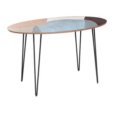 Penton Dining Table Table Base Color: Black, Table Top Color: Walnut