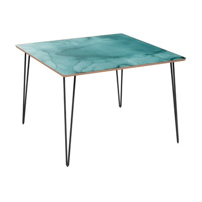 Cansler Dining Table Table Base Color: Black, Table Top Color: Walnut