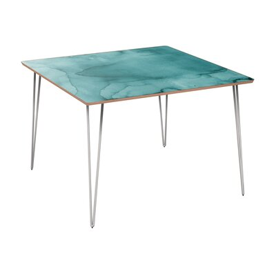 Cansler Dining Table Table Base Color: Chrome, Table Top Color: Walnut