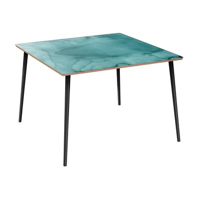 Cantara Dining Table Table Base Color: Black, Table Top Color: Walnut