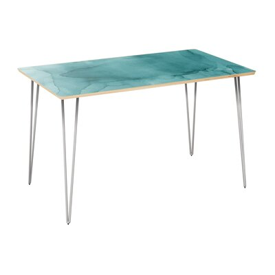 Climenhaga Dining Table Table Top Color: Natural, Table Base Color: Chrome