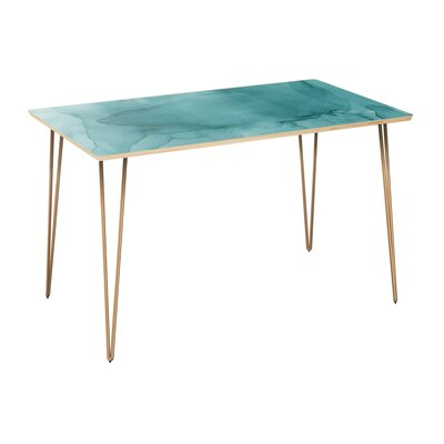 Climenhaga Dining Table Table Top Color: Natural, Table Base Color: Brass