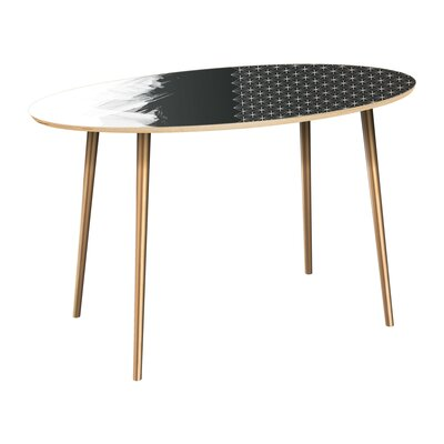 Penson Dining Table Table Top Color: Natural, Table Base Color: Brass