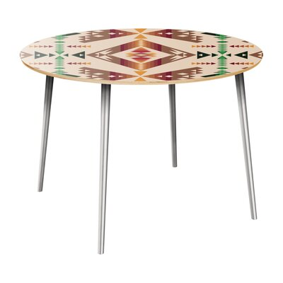 Reger Dining Table Table Top Color: Natural, Table Base Color: Chrome