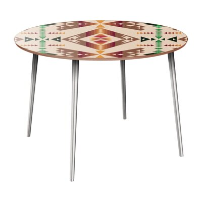 Reger Dining Table Table Base Color: Chrome, Table Top Color: Walnut