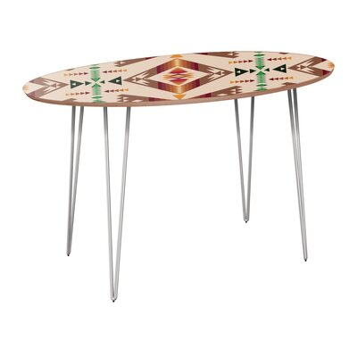 Rehberg Dining Table Table Base Color: Chrome, Table Top Color: Walnut
