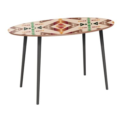 Reiber Dining Table Table Base Color: Black, Table Top Color: Walnut