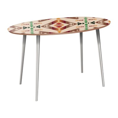 Reiber Dining Table Table Base Color: Chrome, Table Top Color: Walnut