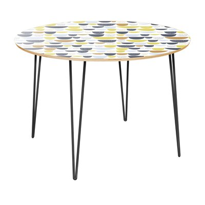 Clauson Dining Table Table Top Color: Natural, Table Base Color: Black