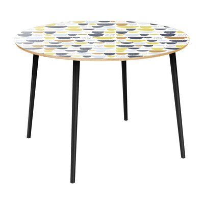 Claverton Down Dining Table Table Top Color: Natural, Table Base Color: Black