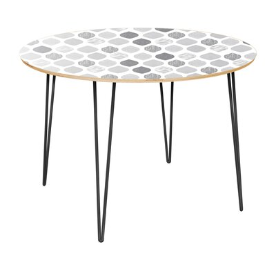 Canas Dining Table Table Top Color: Natural, Table Base Color: Black