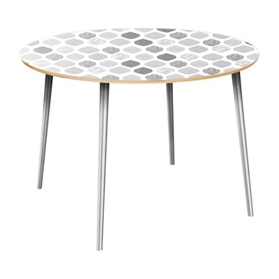 Canavan Dining Table Table Top Color: Natural, Table Base Color: Chrome