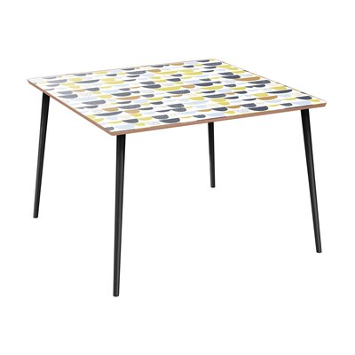 Canup Dining Table Table Base Color: Black, Table Top Color: Walnut