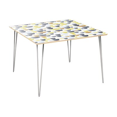 Cantin Dining Table Table Top Color: Natural, Table Base Color: Chrome