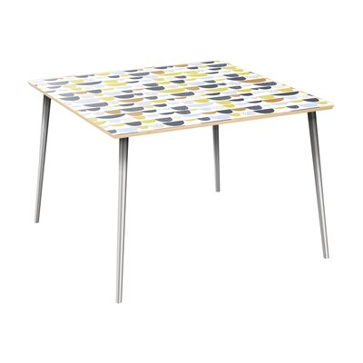 Canup Dining Table Table Top Color: Natural, Table Base Color: Chrome