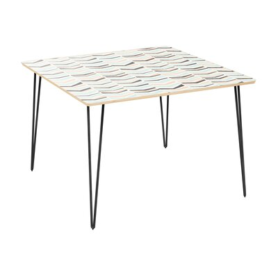Clemmons Dining Table Table Top Color: Natural, Table Base Color: Black