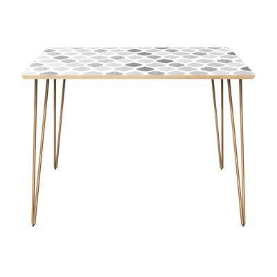 Canyonville Dining Table Table Top Color: Natural, Table Base Color: Brass