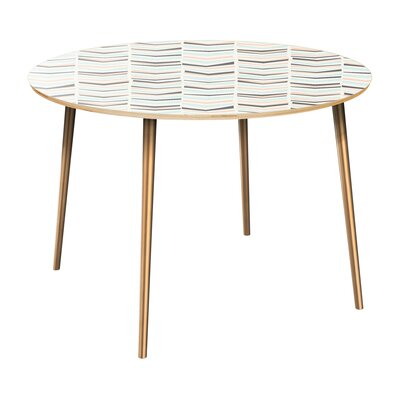 Cantero Dining Table Table Top Color: Natural, Table Base Color: Brass