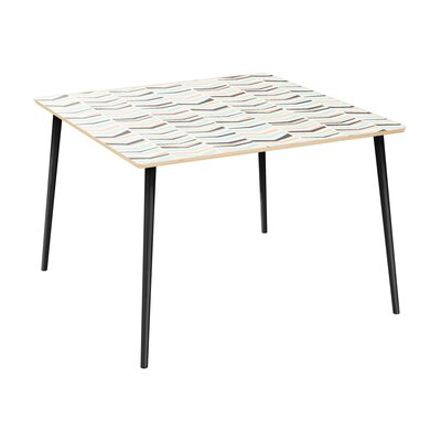 Cleopatra Dining Table Table Top Color: Natural, Table Base Color: Black