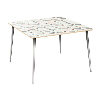 Cleopatra Dining Table Table Top Color: Natural, Table Base Color: Chrome