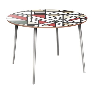 Candelario Dining Table Table Base Color: Chrome, Table Top Color: Walnut