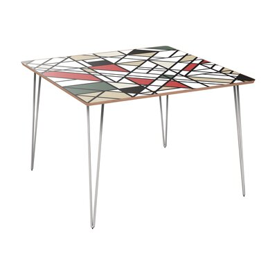 Conforti Dining Table Table Base Color: Chrome, Table Top Color: Walnut