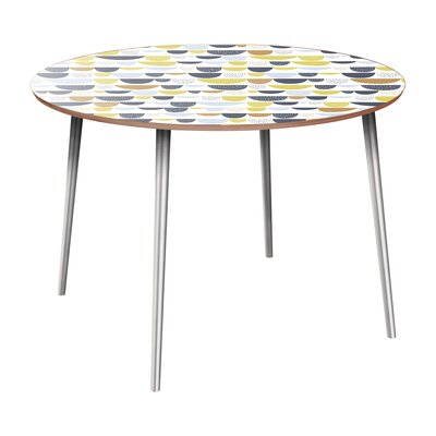 Claverton Down Dining Table Table Base Color: Chrome, Table Top Color: Walnut