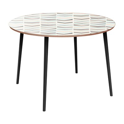 Cantero Dining Table Table Base Color: Black, Table Top Color: Walnut